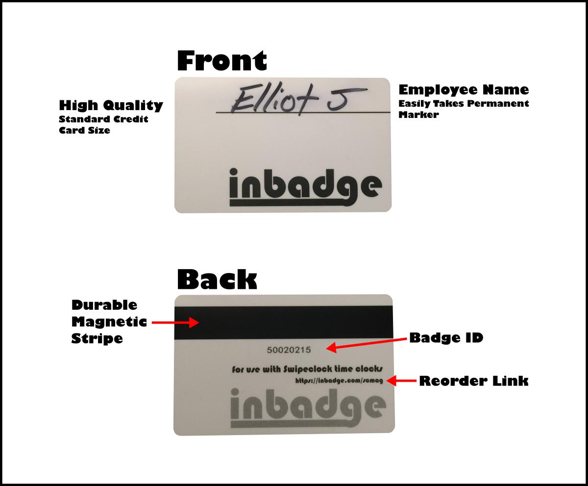 Anatomy Of Swipeclock Card