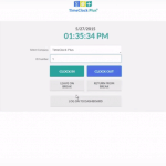 TimeClock Plus login page
