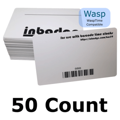 WaspTime 50 Pack Barcode Badges