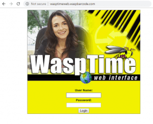 Wasp WaspTime Login Screen