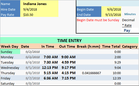 Employee Timecard Break Showing as Decimal