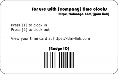 inbadge custom cards back barcode