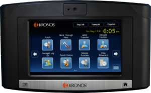 Kronos 9100 Barcode Time Clock
