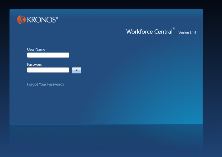 Workforce Central 8.1.4 Login Screen