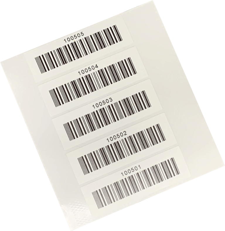 Barcode Sticker Sheet