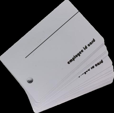 Micros White Employee Card